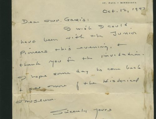 Letter – Sinclair Lewis, Novelist and Nobel Prize Winner