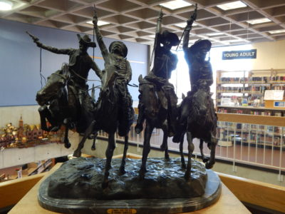 "Sculpture - ""Coming Through the Rye""- bronze by Frederic Remington"