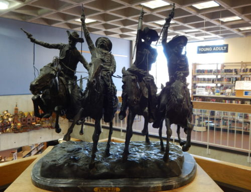 "Sculpture – ""Coming Through the Rye"" – bronze by Frederic Remington"