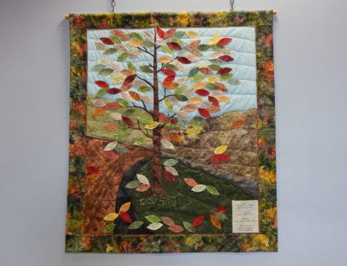 "Quilt – ""New Ulm Friends of the Library Membership Tree"""