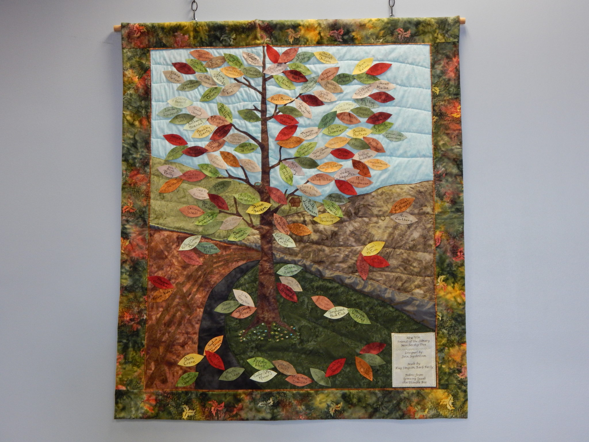 "Quilt - ""New Ulm Friends of the Library Membership Tree"""
