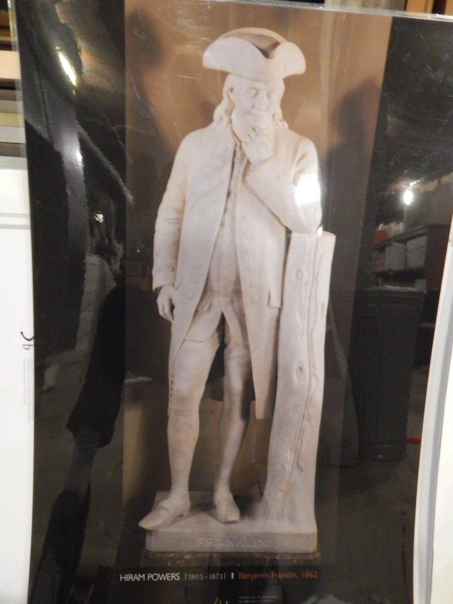 Photo of Hiram Powers' sculpture of Benjamin Franklin