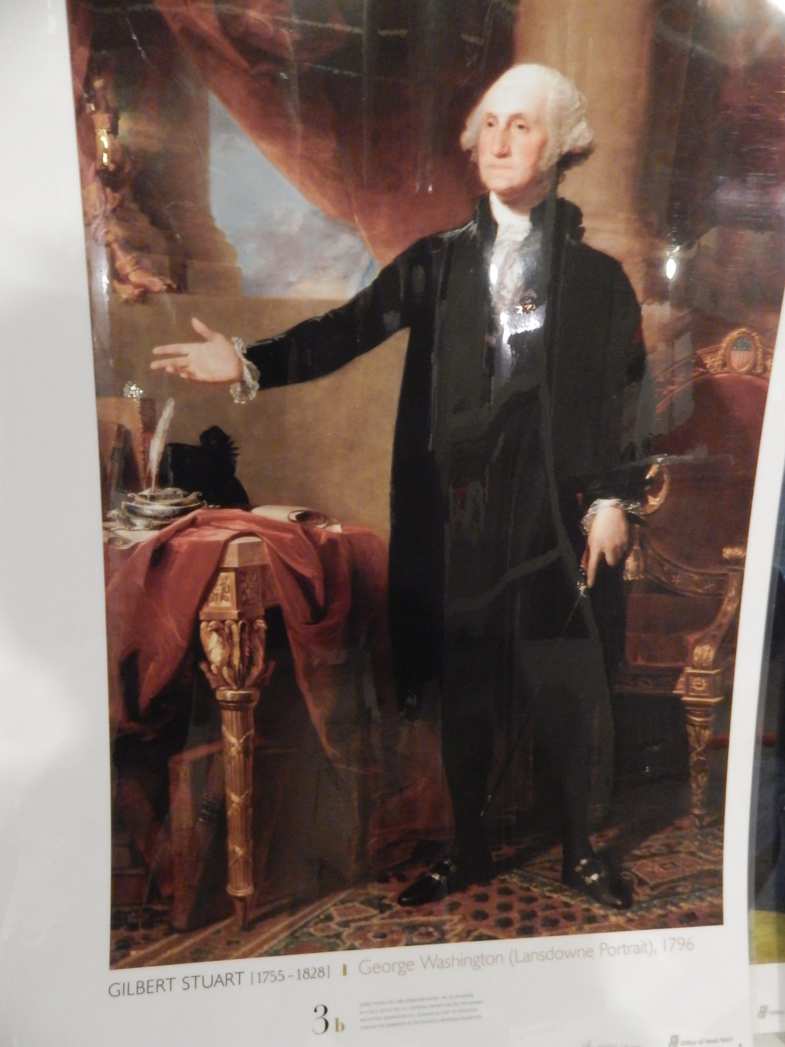 photo of Gilbert Stuart's painting of George Washington, 1796