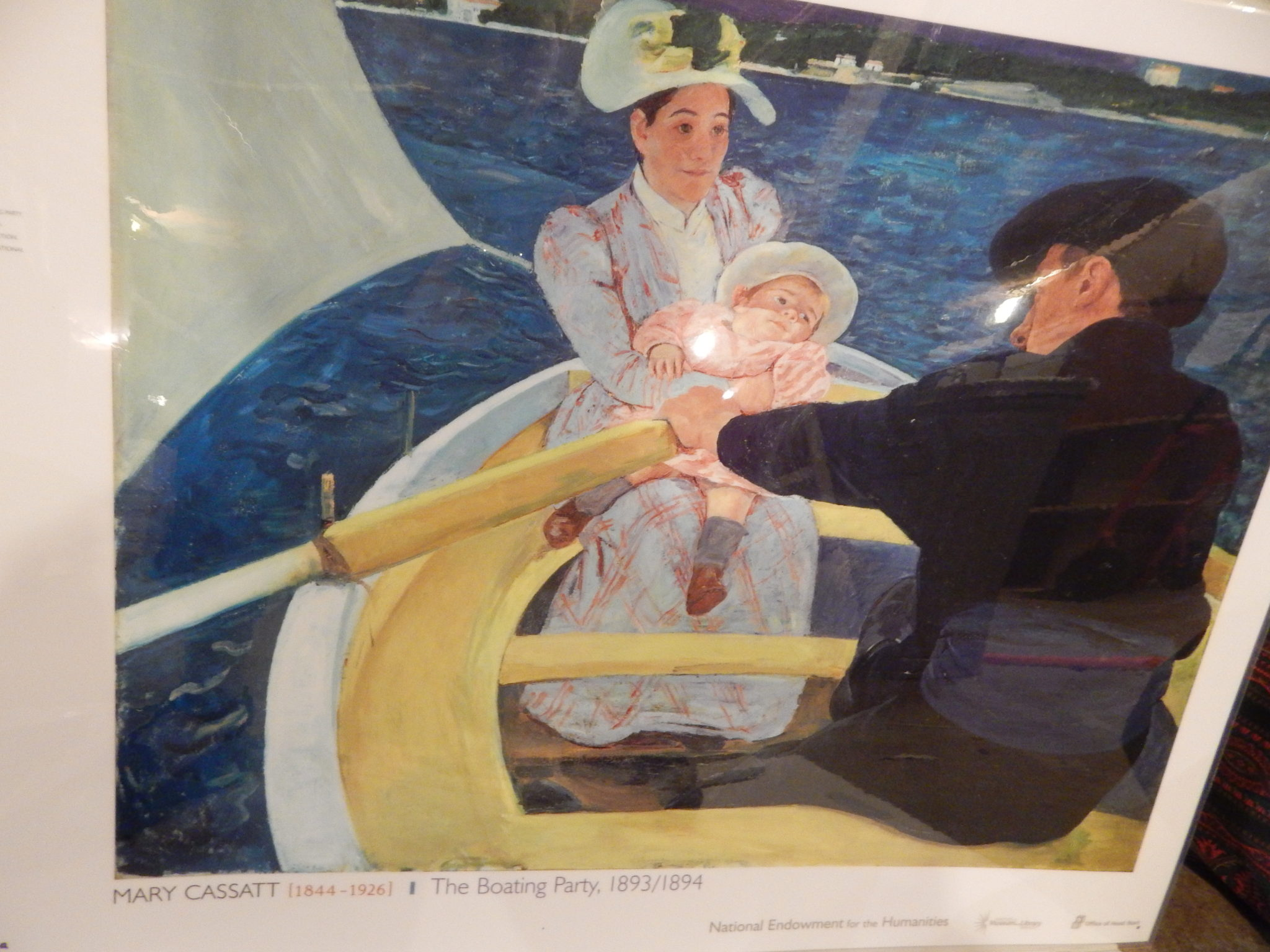 "photo of Mary Cassatt's oil painting ""The Boating Party, 1893"""