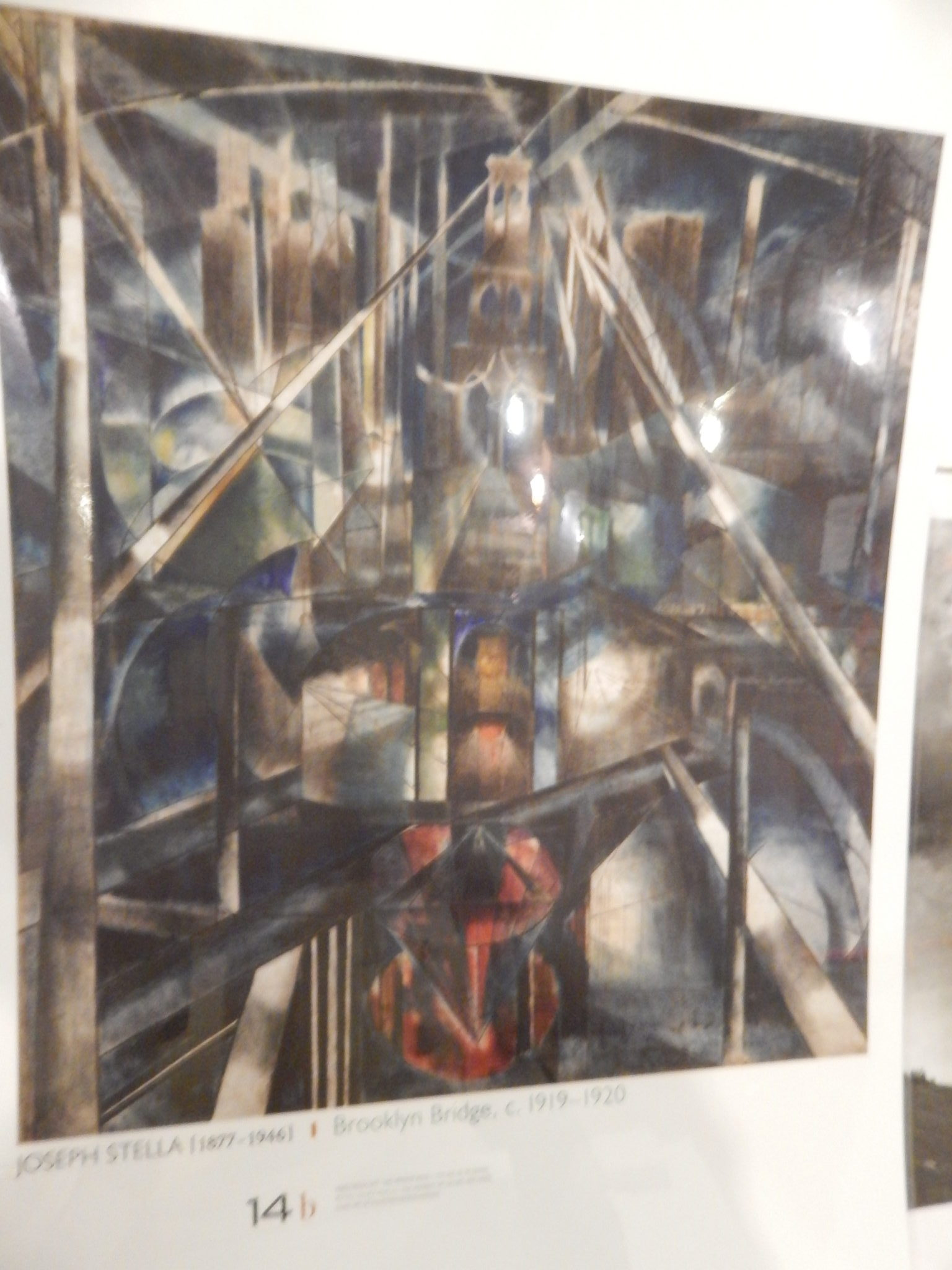 "photo of Joseph Stella's oil painting ""Brooklyn Bridge, c.1919-1920"