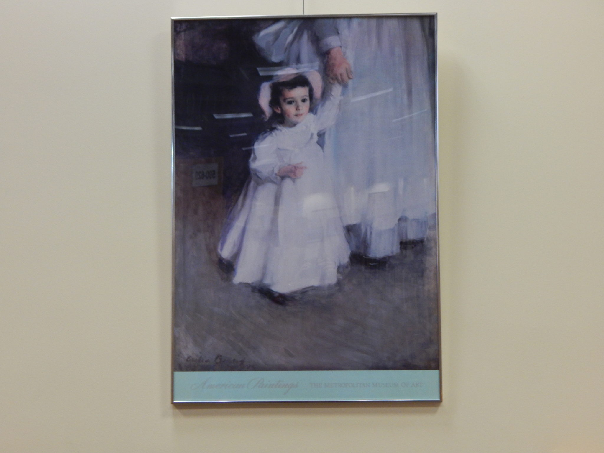 Met. Museum of Art poster of small girl with governess oil painting