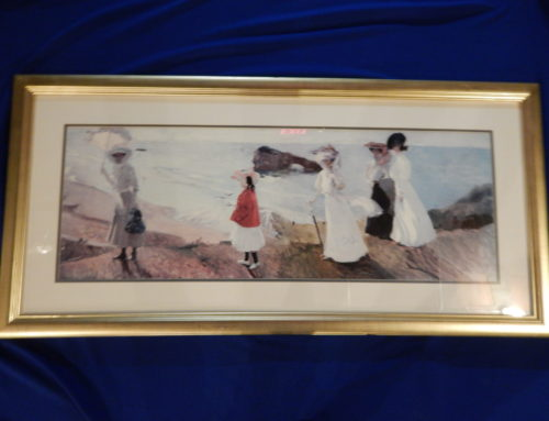 """Lighthouse Walk at Biarritz"" – framed print by Joaquin Sorolla"