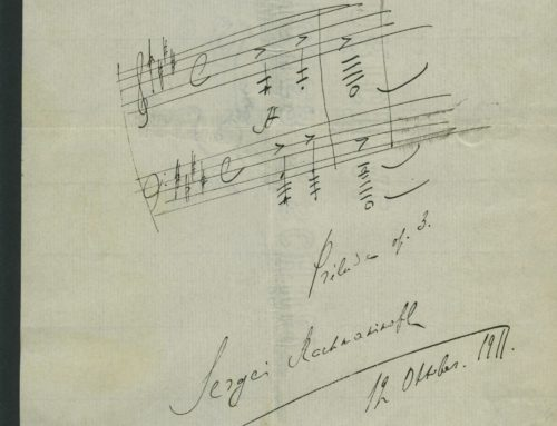 Autographed Sketch – Sketch of Musical Score of Sergei Rachmaninov, Russian Pianist and Composer