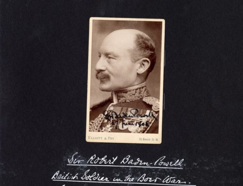 Autographed Photo – Sir Robert Baden-Powell, Founder of Boy Scouts, British Soldier in Boer War