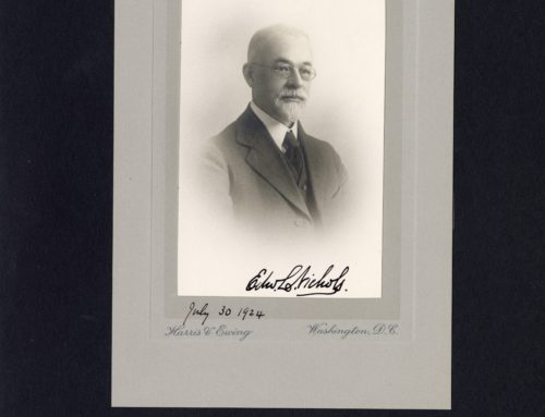 Autographed Photo – Edward L. Nichols, American Physicist and Scientific Editor