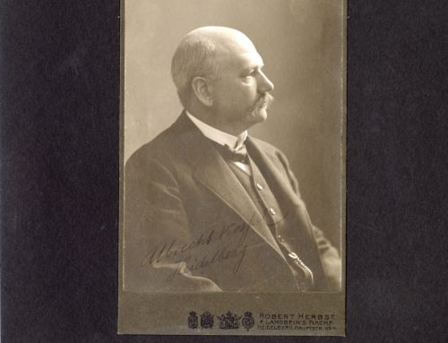 Autographed Photo – Professor Albrecht Kossel, German Physicist and Chemist; Nobel Prize Winner