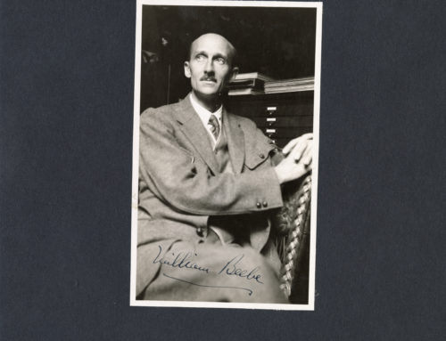 Autographed Photo – William Beebe, American Naturalist and Explorer