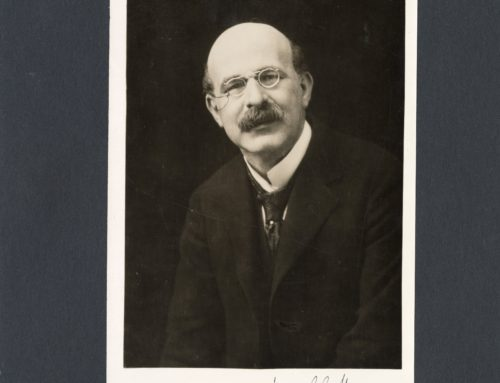 Autographed Photo – Sir Israel Gollancz, Educator and Professor of English Language and Literature