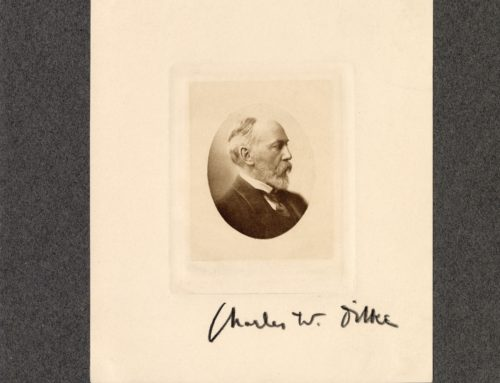 Autographed Photo – Charles W. Dilke, Writer – Wrote of his Travels Around the World