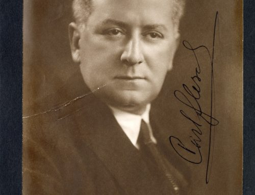 Autographed Photo – Karl Flesch, Hungarian Violinist and Teacher