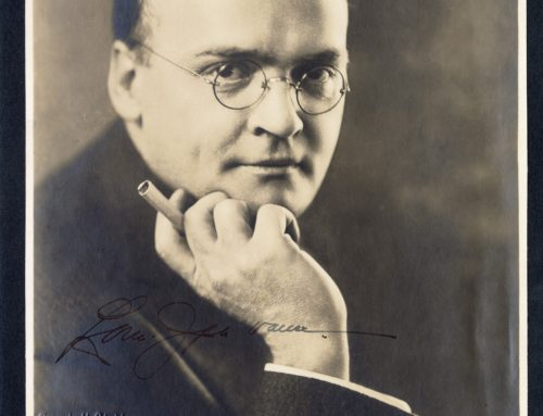 Autographed Photo – Louis Joseph Vance, American Fiction Writer