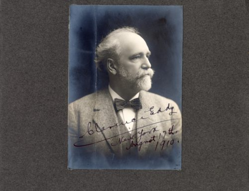 Autographed Photo – Clarence Eddy, American Organist and Composer