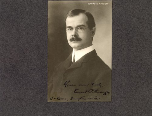 Autographed Photo – Ernest R. Kroeger, Director of Kroeger School of Music