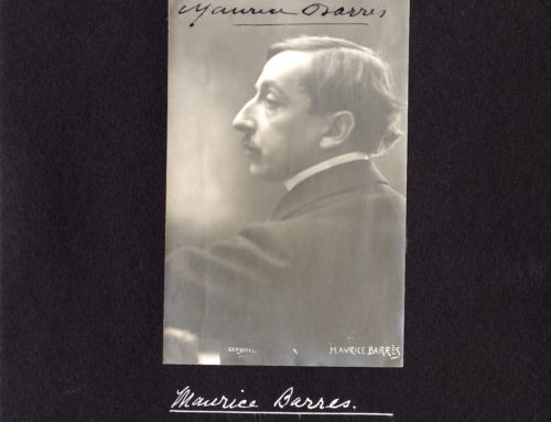 Autographed Photo – Maurice Barres, French Novelist and Politician
