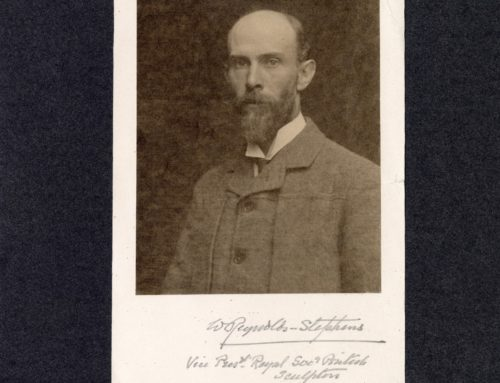 Autographed Photo – Sir William Reynolds-Stephens, British Sculptor