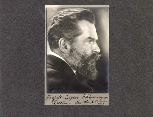Autographed Photo – Professor N. Eugen Kuhnemann, German Philosopher and Historian of Literature