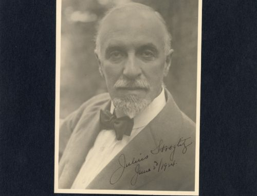 Autographed Photo – Julius Stieglitz, Professor of Chemistry at University of Chicago