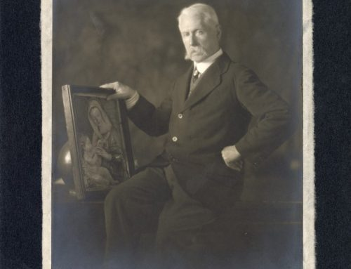 Autographed Photo – F. Frankfort Moore, British Poet, Novelist and Playwright