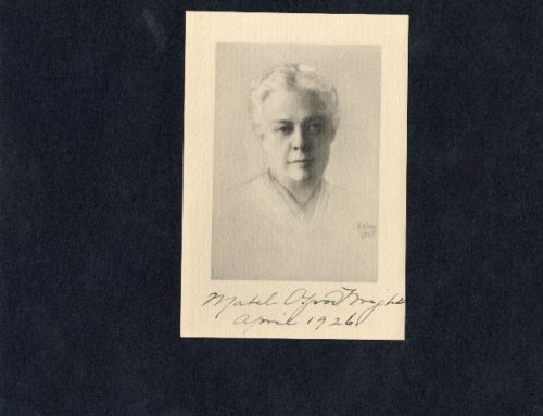 Autographed Portrait – Mabel Osgood Wright, American Writer