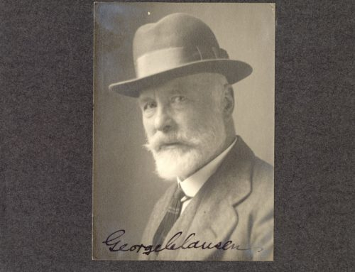 Autographed Photo – Sir George Clausen, English Figure and Landscape Painter