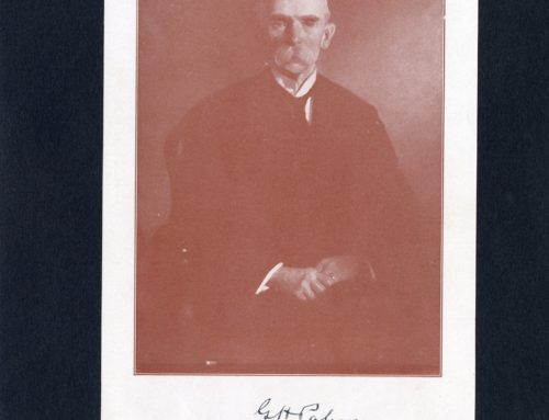 Autographed Photo – George H. Palmer, American Scholar and Educator