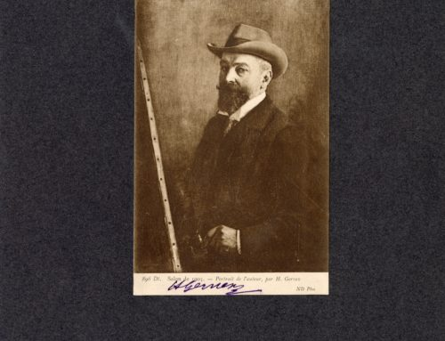 Autographed Photo –  Henri Gervex, French Painter