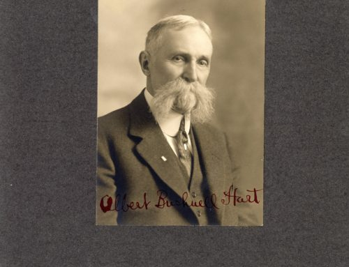 Autographed Photo – Albert Bushnell Hart, American Historian and Educator