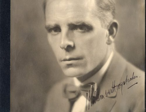 Autographed Photo – Willem Van Hoogstraten, Dutch Orchestra Conductor; Conductor of Philharmonic Orchestra