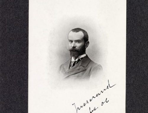 Autographed Sketch – Jean A. Jusserand, French Diplomat and Author