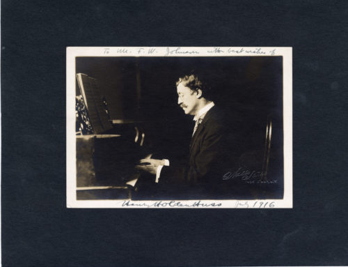 Autographed Photo – Henry H. Huss, American Pianist and Composer