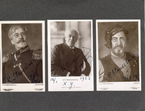 Autographed Photos – C. S. Stanislavsky, Russian Theater Actor and Producer