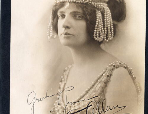 "Autographed Photo – Maud Allan, World Famous Symphonic Dancer in ""The Vision of Salome"""
