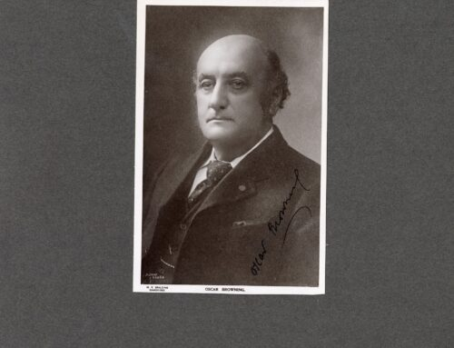 Autographed Photo – Oscar Browning, English Author and Educationalist