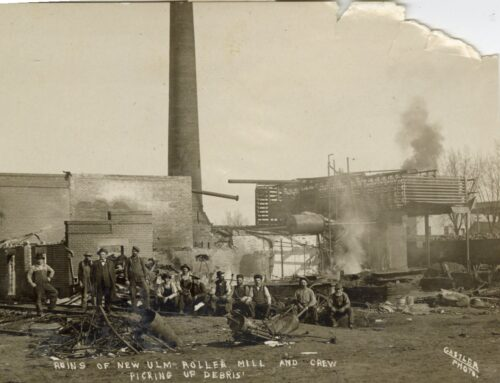 Photo – Roller Mill Fire Cleanup, 1910