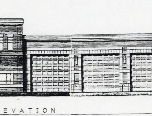 Photocopy of New Ulm Station #1 at 8th No. and Broadway
